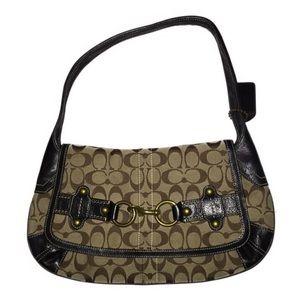 COACH Ergo Signature Belted Flap Shoulder Bag